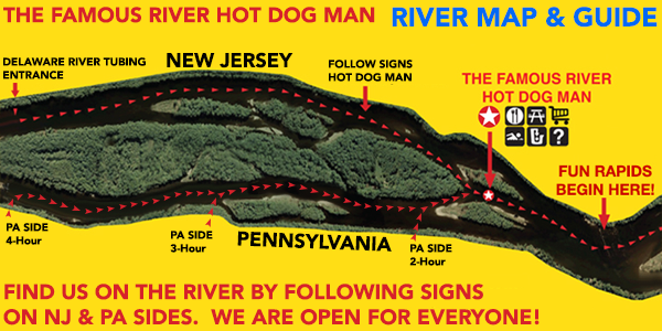 River Map to Hot Dog Man